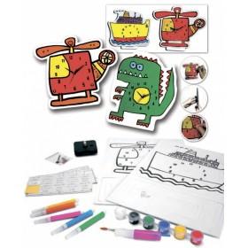 Набор для творчества «ЧАСЫ СВОИМИ РУКАМИ» модель крокодил и динозавр