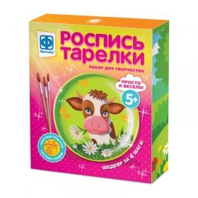 Роспись тарелки Буренка, арт. FN-717054