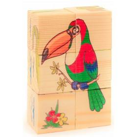 Собери рисунок. Кубики-пазл. ЖИВОТНЫЕ (6 кубиков), арт. AN-Д487а