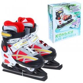 Коньки ледовые для фитнеса 223b red р.33-36