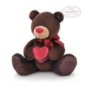 """Мягкая игрушка """"Медведь мальчик Choco, с сердцем"""""""