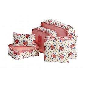 Органайзеры для хранения комплект из 6шт, розовый
