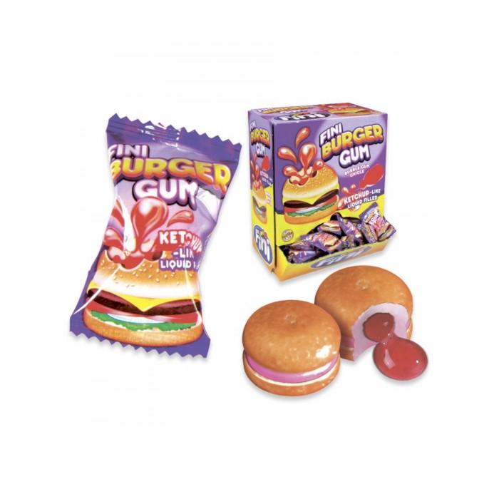 Жевательная резинка (с начинкой) FINI BURGER GUM (Бургер) упаковка 200 штук