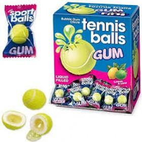 """Жевательная резинка (с начинкой) """"TENNIS BALLS"""" (sport balls gum) 5г"""