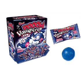 Жевательная резинка в карамельной оболочке FINIBOOM VAMPIRE (кислая, красит язык) упаковка 200 штук