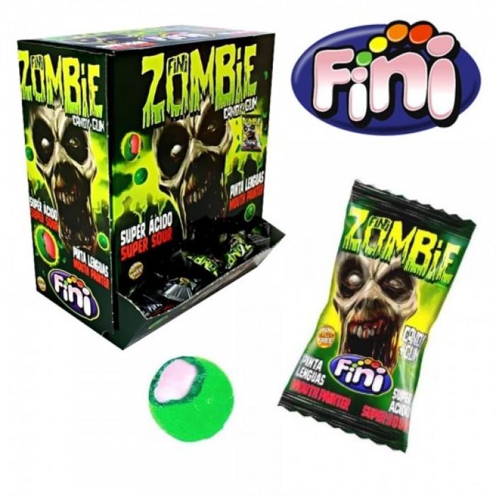 Жевательная резинка в карамельной оболочке FINI ZOMBIE (кислая, красит язык) упаковка 200 штук