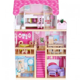 Кукольный домик ECO TOYS Malinowa 4119
