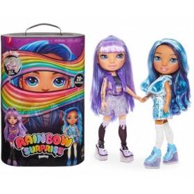 Кукла Poopsie Rainbow Surprise 20 сюрпризов (голубая/фиолетовая)