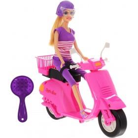 Defa Кукла со скутером и аксессуарами