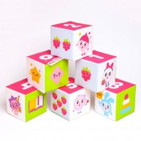 Развивающие кубики Учим формы, цвет и счет Малышарики