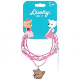 Кожаный браслет для девочки Lucky Doggy Йорк