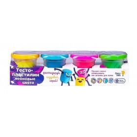 """Тесто для лепки """"Неоновые цвета"""" (4 цвета)"""