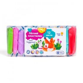 """Легкий пластилин Genio Kids Набор """"Лёгкий пластилин 12 цветов"""", 120 гр"""
