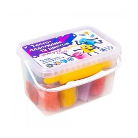 """Тесто-пластилин Genio Kids Набор """"Тесто-пластилин 12 цветов"""""""