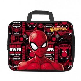 Сумка Текстильная с РУЧКАМИ Hatber А4ф для тетрадей ширина 3,5см -Человек- паук-( MARVEL)