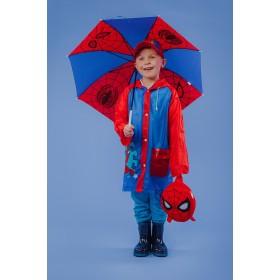 Дождевик детский, Человек-паук, размер S  92-98 см