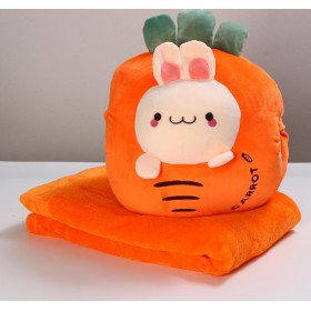 Мягкая игрушка «Морковка», с пледом
