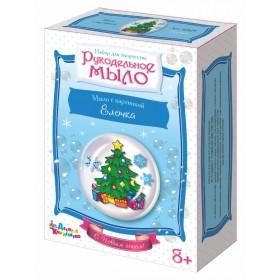 """Набор для изготовления мыла. Рукодельное мыло с картинкой """"Ёлочка"""" (С Новым годом!)"""