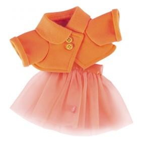 Оранжевая курточка и юбка BudiBasa для Зайки Ми 18 и 25 см