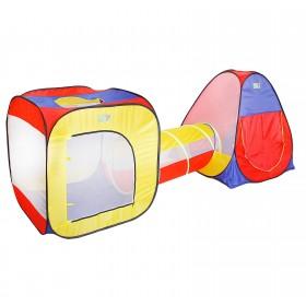 Игровая палатка с туннелем, разноцветная