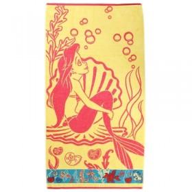 Полотенце махровое Disney Ariel 70х130 см, 100% хлопок, 460 гр/м2