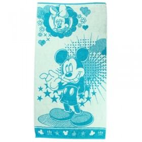 Полотенце махровое Disney Mickey Stars 70х130 см, 100% хлопок, 460 гр/м2, цв. голубой
