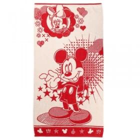 Полотенце махровое Disney Mickey Stars цв красный, 70*130 см, хлопок 100%, 460 гр/м
