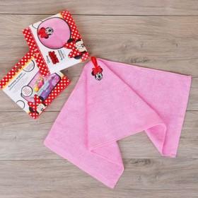 Полотенце махровое, Минни Маус, + игра на упаковке