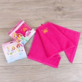 Полотенце махровое, Принцессы, + игра на упаковке