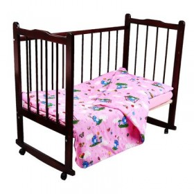 Постельное бельё Карамелька Слоники розовый 112*147см, 60*100*20 см пр.на рез., 40*60 см 1 шт., трикотаж хлопок