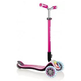 Самокат Globber Elite Prime розовый (фонарик Globber в подарок)