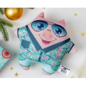 """Мягкая игрушка-антисресс """"Модная хрюша"""" в очках"""