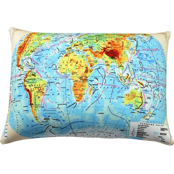 Подушка-антистресс Карта мира