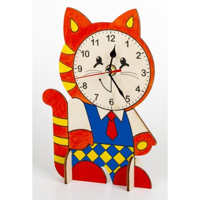 """Деревянные часы своими руками (с красками) """"Котёнок"""""""