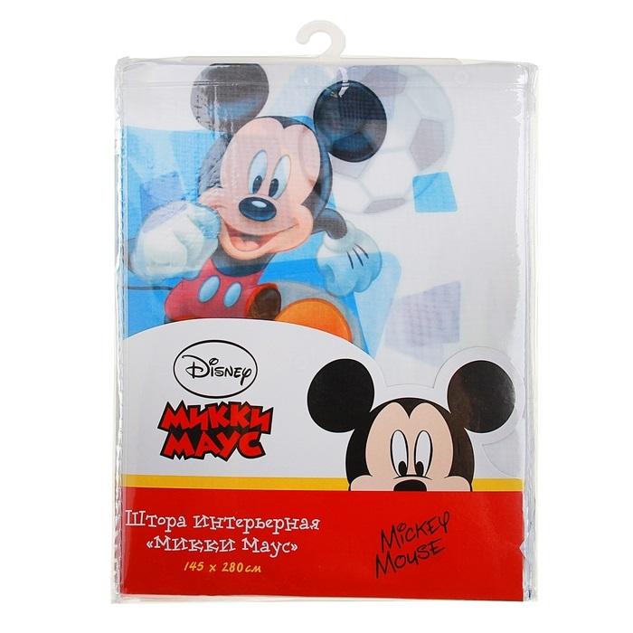 Штора Disney интерьерная 145*280 см, вуаль, Микки Маус (64883/16/2) 100% п/э