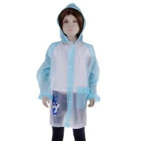 """Дождевик детский """"Зайчик с зонтиком"""" на кнопках с капюшоном, р-р M, рост 100-110 см"""