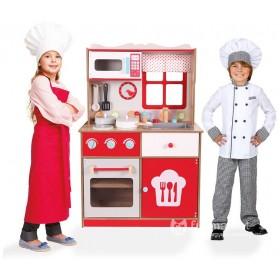 Деревянная детская кухня (16 предметов)