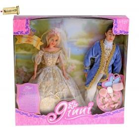 """Кукла """"Джинни"""" принцесса с принцем и аксессуарами"""