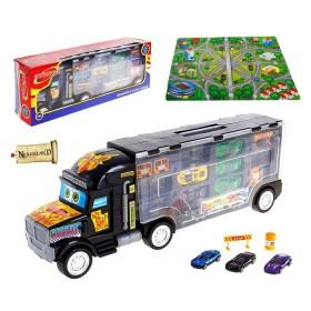 """Набор машин """"Автоперевозчик"""": 9 моделей, игровое поле, дорожные знаки"""