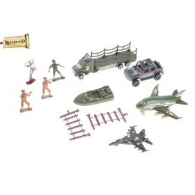 Набор солдатиков с боевой техникой