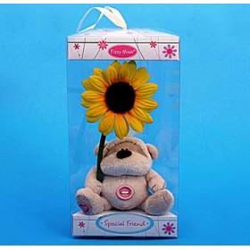 Мишка Fizzy moon с цветочком в коробочке