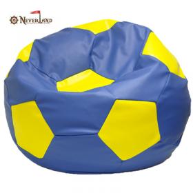 """Кресло-мешок """"Мяч"""", сине-желтый"""