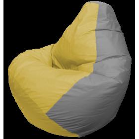 """Кресло-мешок """"Груша Макси"""", желто-серое"""