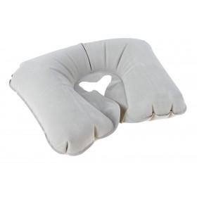 Подушка дорожная надувная, серая