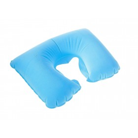 Подушка надувная для путешествий, цвет голубой