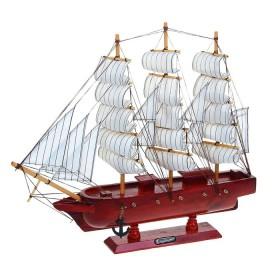 Корабль сувенирный, красное дерево