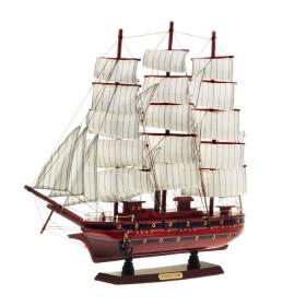 Корабль сувенирный трехмачтовый, бордо