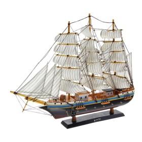 Корабль сувенирный, якорь, белые паруса с полосой