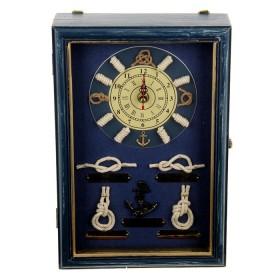 """Ключница с часами """"Мастерство моряка"""" синяя"""