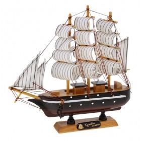 Корабль сувенирный малый, каюты, три мачты